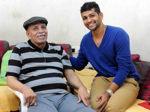 Amol Muzumdar with Ramakant Achreka, the great coach.